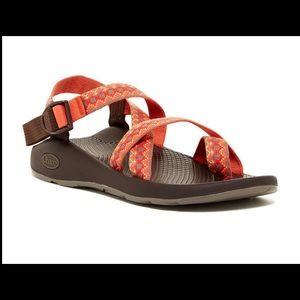 Chaco Orange Z2 Yampa Toe Loop Outdoor Sandals 10